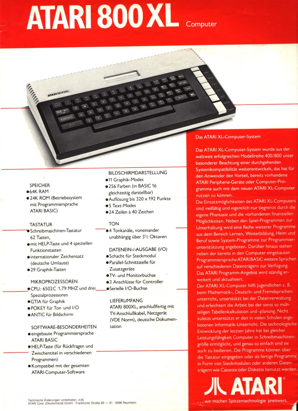 Atari 600 Xl 800 Xl